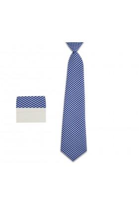 krawat w kratkę chłopięcy