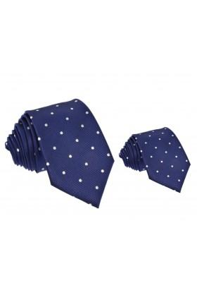 krawat dla taty i syna w kropki