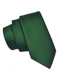 krawat zielony męski slim