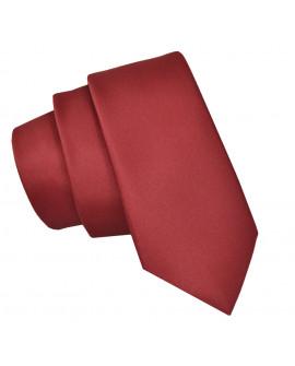 krawat czerwony męski slim