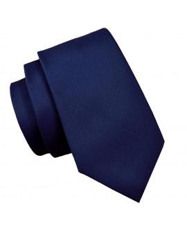 krawat granatowy męski