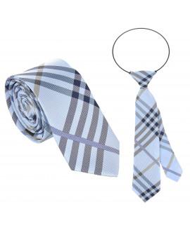 Krawat w kratkę tata i syn