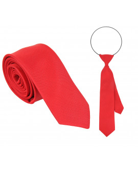 krawat tata i syn czerwone