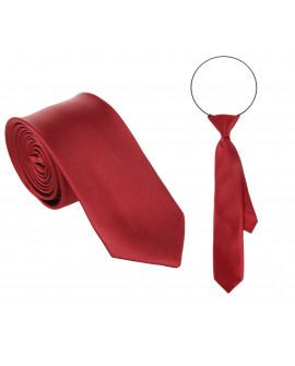 Krawat bordo tata i syn